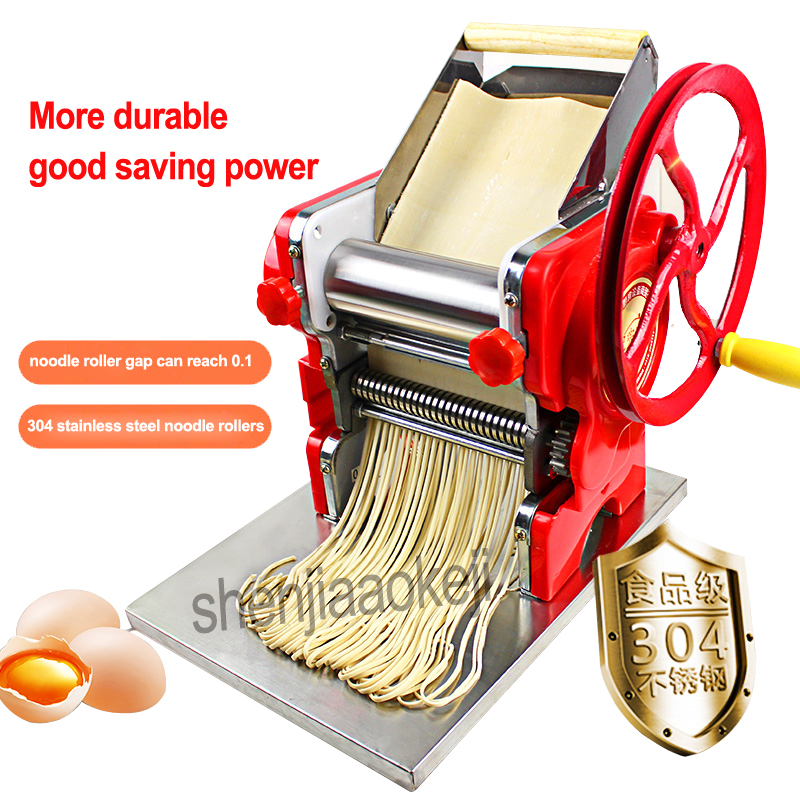 Image 2 - Household manual pasta machine / stainless steel pasta machine pasta machine commercial 18cm noodle roll width-in Electric Noodle Makers from Home Appliances