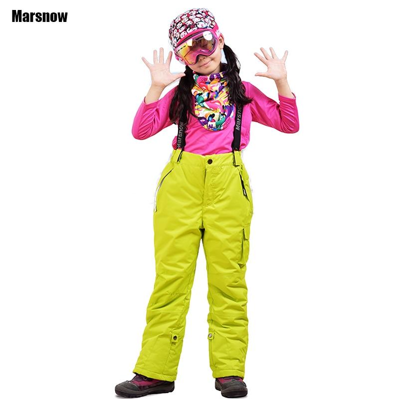 Ski Pants trousers winter Thicken boys girls kids windproof waterproof warm outdoor sport snow snowboarding pants