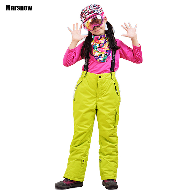 c3e53c331dd1 Ski Pants trousers winter Thicken boys girls kids windproof ...
