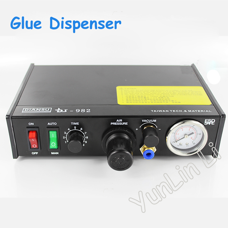 1pc Semi-Auto Glue Dispenser PCB Solder Paste Liquid Controller Dropper Fluid Dispenser with English Manual DS-982 11 11 free shippinng 6 x stainless steel 0 63mm od 22ga glue liquid dispenser needles tips