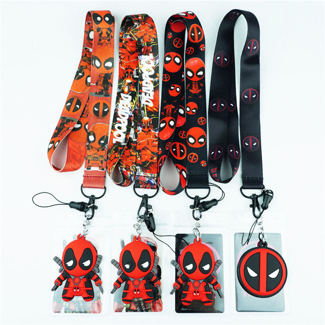 superhero deadpool neck strap lanyards for keys id card gym mobile