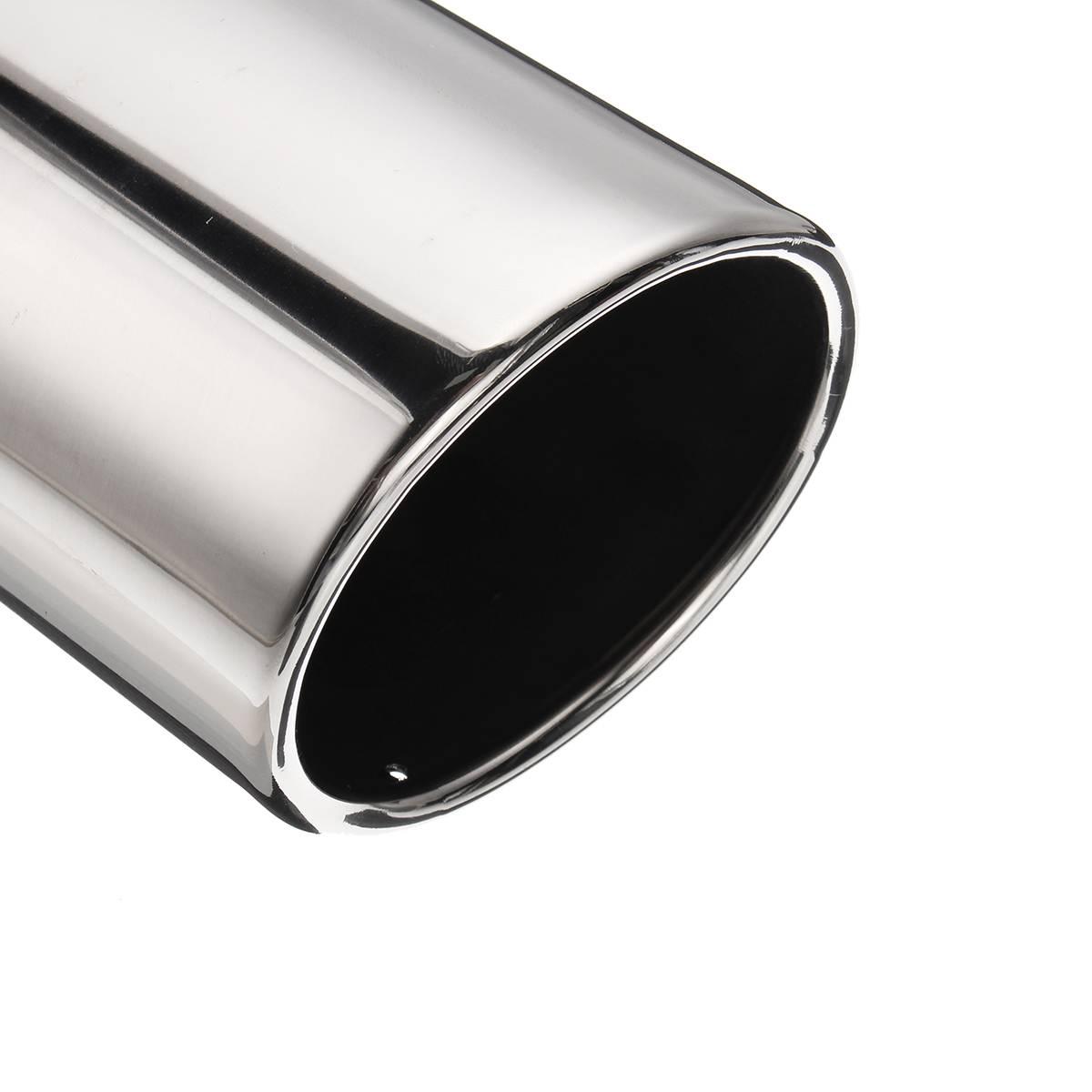 "4.5/"" Outlet 7/"" L Stainless Steel Carbon Fiber Exhaust Tip Bolt-on 2.5/"" Inlet"