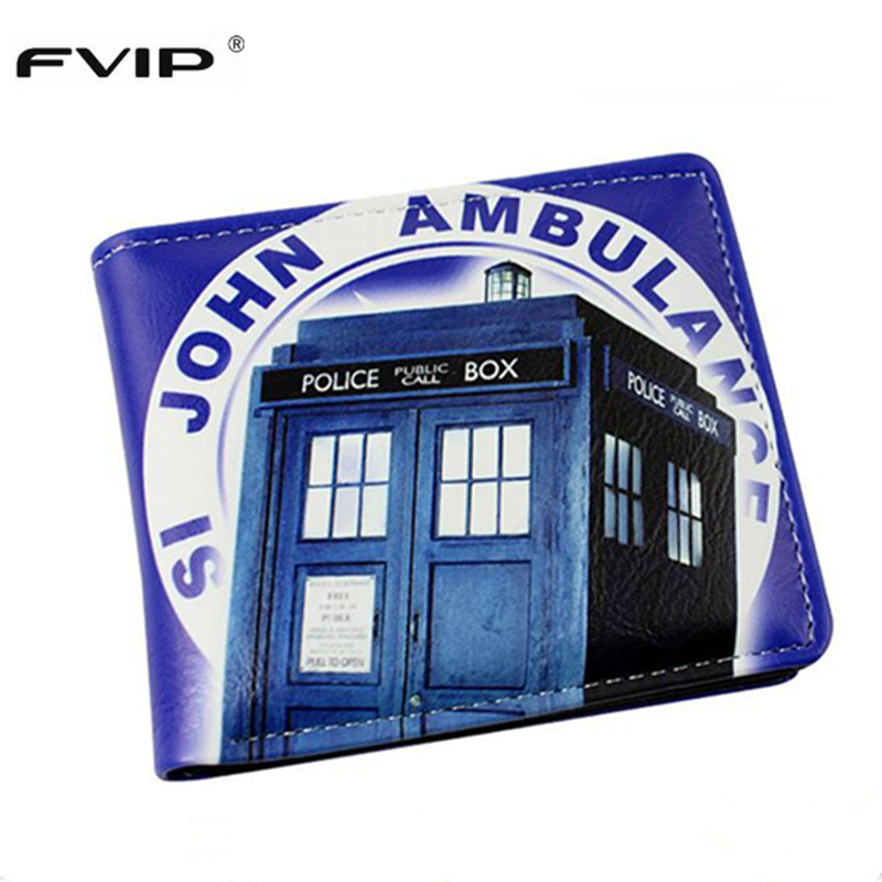FVIP PU Leather Wallet Cosplay Doctor Who /Dragon Ball /Deadpool /Star Wars Wallets With Card Holder Dollar Price fvip wholesale wallet ghost busters minions despicable me doctor who rolling stone inside out nintendo wallets