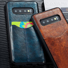Luxury PU Leather Wallet Case For S10 Plus  Card Holder Vintage Samsung Galaxy S10e E