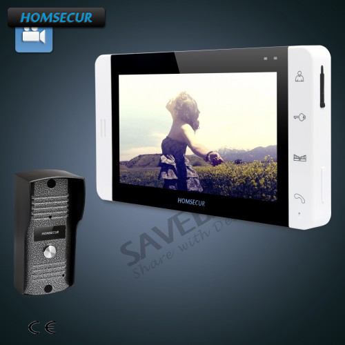 HOMSECUR 7 Wired Video Door Entry Security Intercom with RU Logistics+Outdoor Monitoring