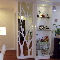 Tree Pattern Wall Sticker Bedroom Decoration Living Room DIY 3D Acrylic Mirror Decal Mural Wall Stickers Home Decor
