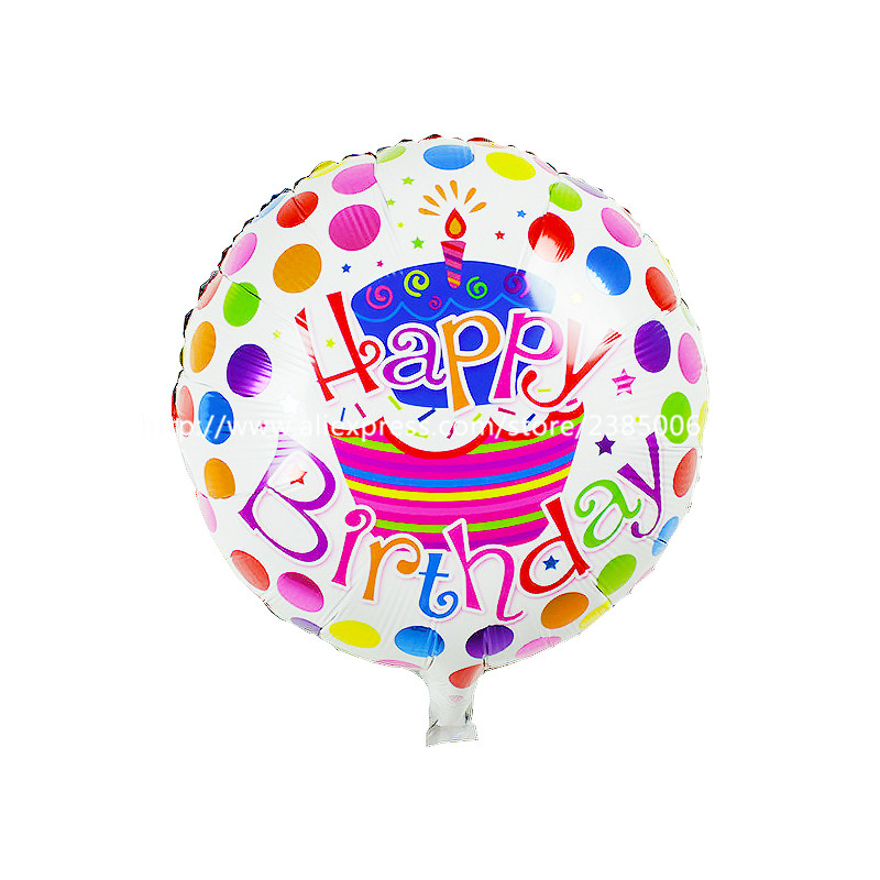 The new 18-inch round Happy Birthday balloons party balloons decorated children'