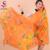 Las mujeres del Mantón de La Bufanda de Seda de Mora de Seda Atar-teñido de Rosa Mujer Plus Tamaño Largo Bufandas Wraps Otoño Invierno Puro seda Del Cabo bwj35