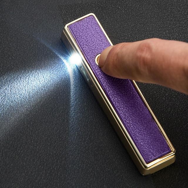 15 stks/partij winddicht USB plasma lichter isqueiro sigaret tool ...