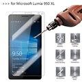 2.5d 0.26mm 9 h prima de cristal templado para microsoft lumia 950 xl protector de pantalla templado película protectora para nokia 950 xl *