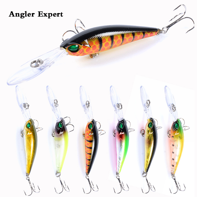 6pc 9.4cm/6.2g Wobbler Pencil Fishing Lure Crankbait Leurre Peche Bass Trolling Artificial Bait Pike Carp Fishing  Minnow
