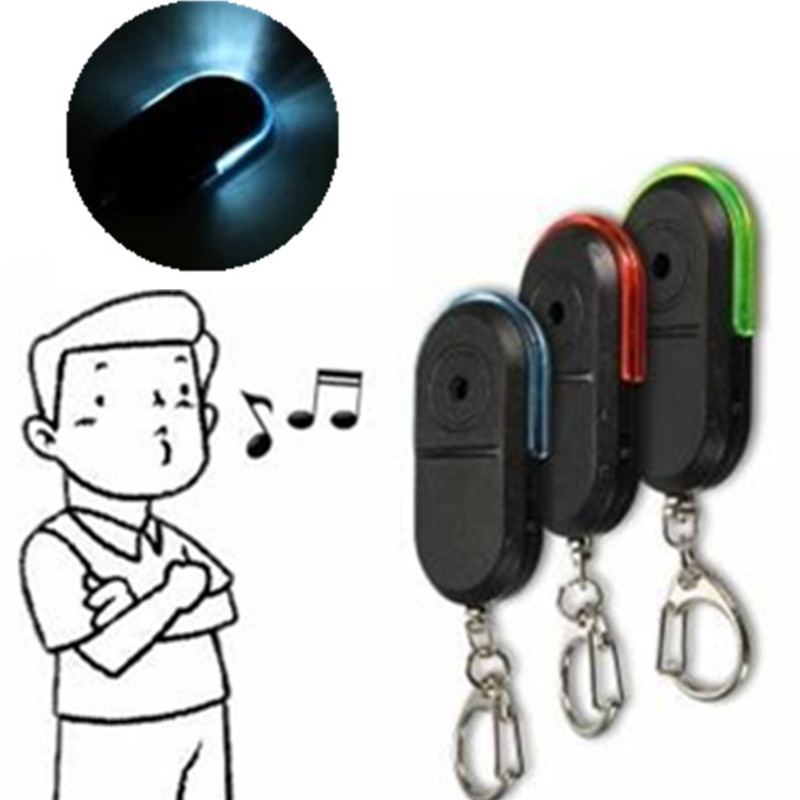 Wireless 10m Anti-Lost Alarm Key Finder Locator Keychain Whistle Sound With LED Light Mini Anti Lost Key Finder For Kids new arrival fashion design 2 in 1 alarm remote wireless key finder seeker locator find lost key 2 receiver anti lost alarm