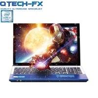 15,6 игровой ноутбук i7 8 ГБ Оперативная память SSD 64/128 ГБ + 750 ГБ HDD большой Процессор Intel DVD металлический Бизнес AZERTY Испанский Русский Keyboard