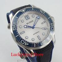 BLIGER 41mm Men's Watch Luminous Dial Blue Watch Hands Ceremic Bezel Sapphire Glass Automatic Wristwatch
