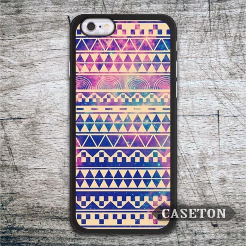 Vintage Violet Aztec Case For iPhone 7 6 6s Plus 5 5s SE 5c 4 4s and For iPod 5 Abstract Nebula Purple Ultra Cover Drop Shipping