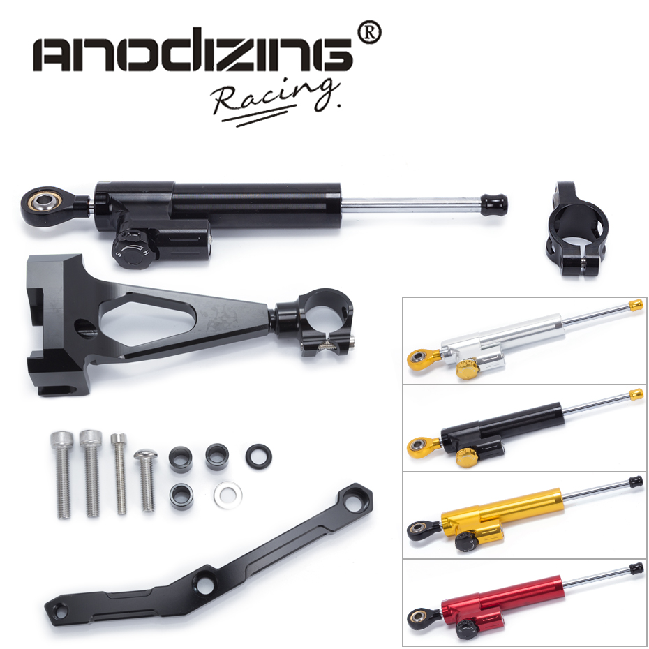 Motorcycle CNC Steering Damper Stabilizerlinear Reversed Safety Control with Bracket For Yamaha MT09 MT-09 FZ-09 2013-2017 gt motor motorcycle cnc steering damper stabilizerlinear reversed safety control with bracket for yamaha mt09 mt 09 fz 09 13 17