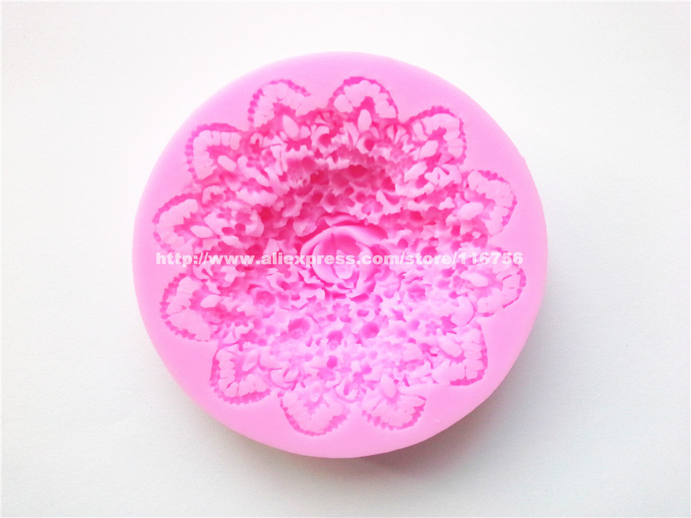 Freies Verschiffen Blume Geformt Silikonform Kuchen Dekoration Fondant Kuchen 3d-food Grade-silikon-form 057