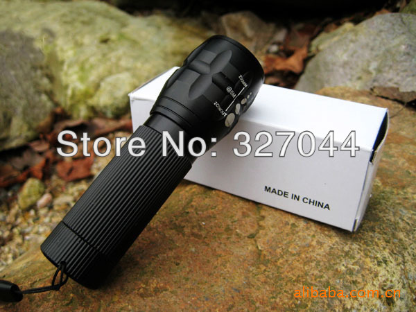 Free shipping 10pcs/lot Hot Sale 1000 Lumens Zoomable CREE XM-L T6 LED Flashlight Torch Light For Hunting & Camping