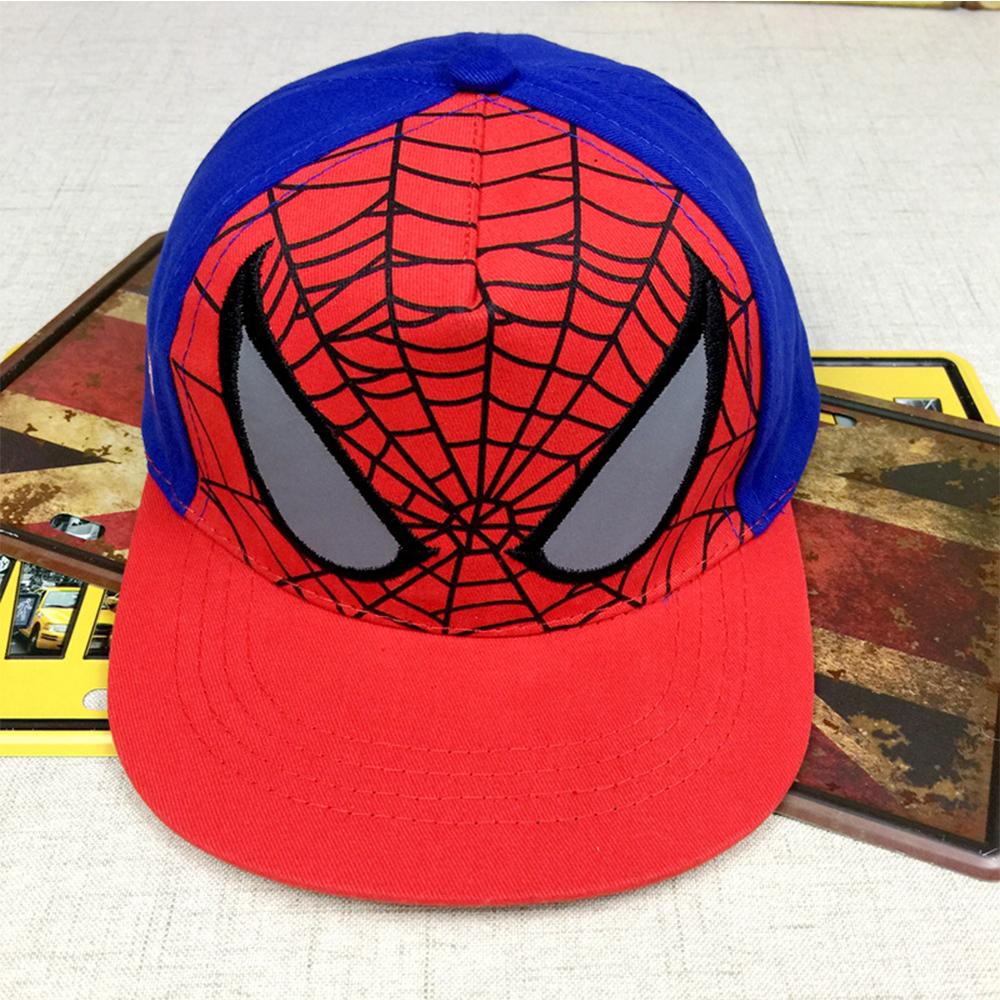 Composite Bats Spiderman Embroidery Cotton Baseball Cap kids Hip Hop Hat