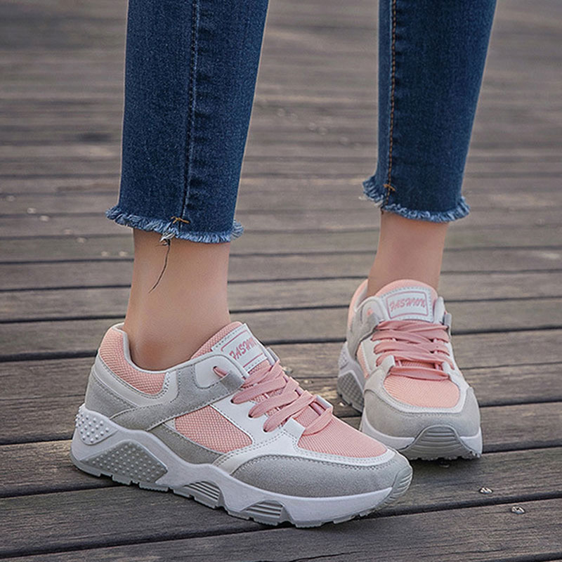 women shoes 2018 fashion sneakers women vulcanize shoes comfortable nonslip wearproof platform sneakers basket femme shoes women