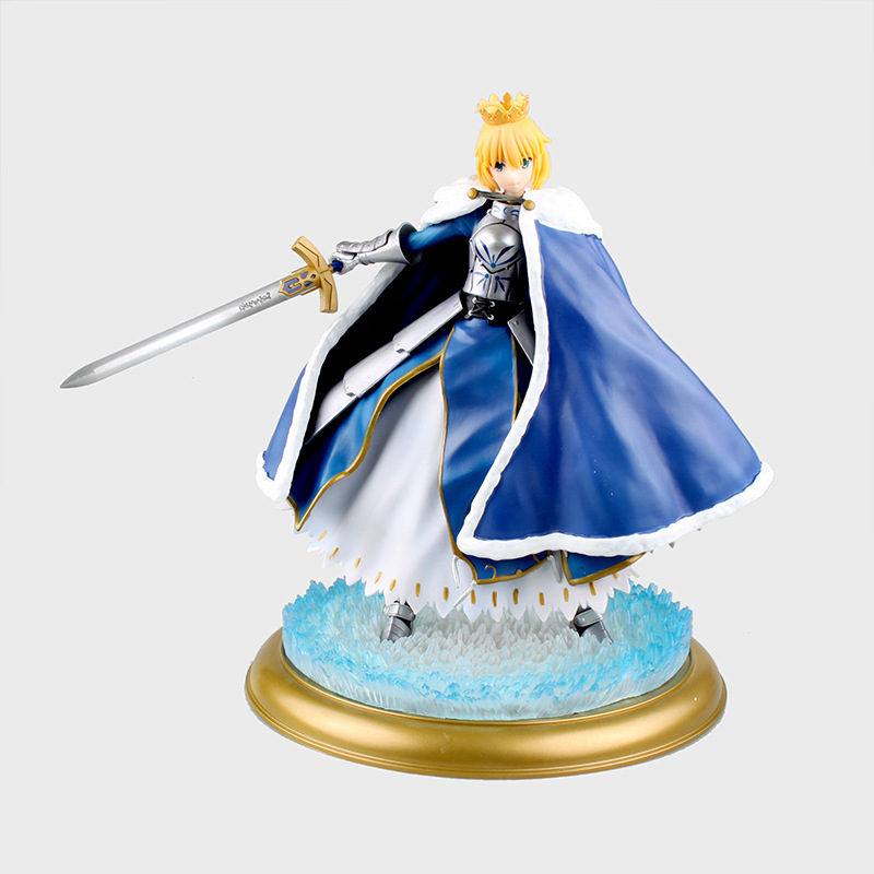 Huong Anime Figure 26 CM Fate Stay Night Saber Fate Zero With Light PVC Action Figure Collection Model Toy anime fate stay night fate zero saber altria pendragon excalibur emiya shirou 25cm pvc action figure toy collection model gift