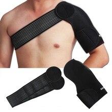 Nouveau Élastique Unique épaulière Retour Support Élastique Épaule Bandage  Muscles ceinture ajustable Pad Protection ruban de sp. 88cda965143