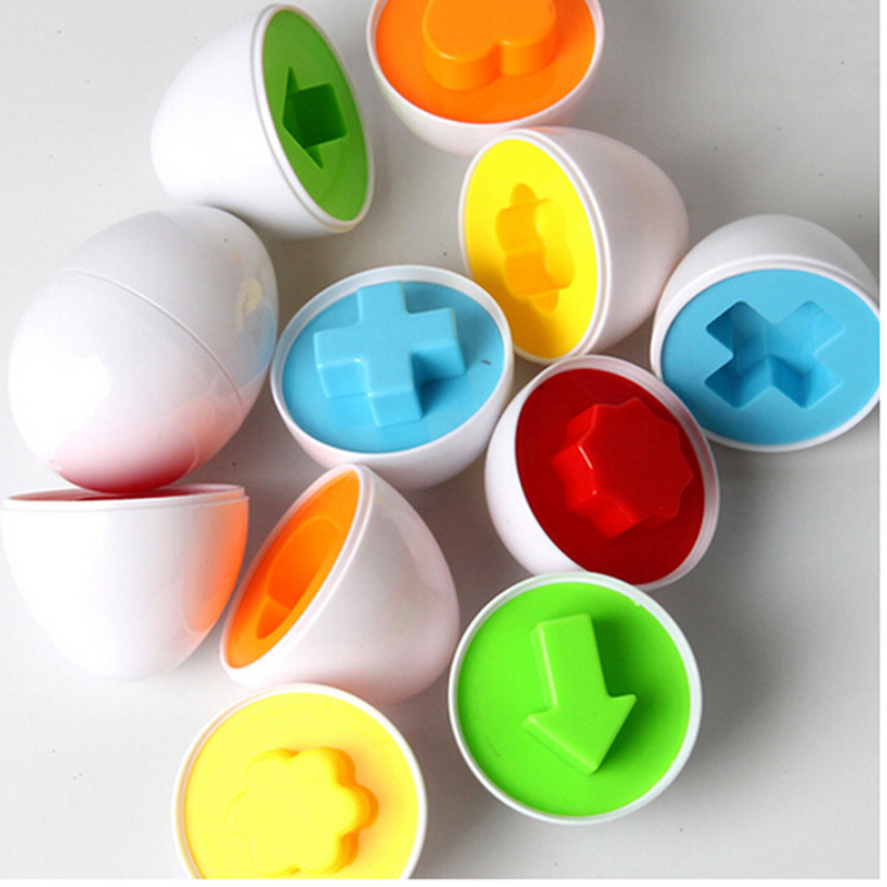 New Design Essential 30 Egg/Lot Learning Education Toys Mixed Shape Wise Pretend Puzzle Smart Baby Kid Learning Toys Tool