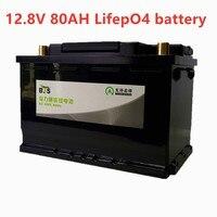 Bls 12 v 80ah lifepo4 bms bateria 4S 12.8 v ciclo profundo longa vida livre bms lítio ferro fosfato rv barco inversor monitor rv Baterias recarregáveis     -