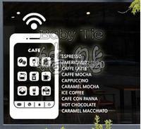 Кофе магазин виниловые наклейки на стены mobil Дизайн росписи Книги по искусству Кофе Логотип Знак жена стены Стикеры Кофе Магазин Бар окна Ст...