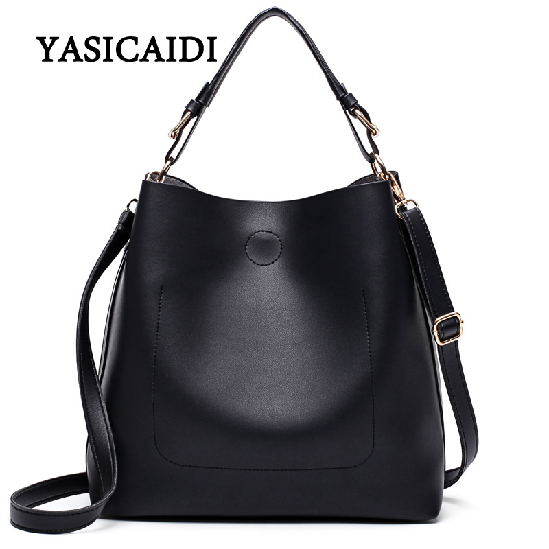 New Large Capacity Women Bag  Fashion Pu Leather Shoulder Bag Casual Tote Bag Designer Female Bucket Handbags Composite Bag wholesale blanks pu faux leather handbags casual tote bag large capacity square satchels bag dom1038113