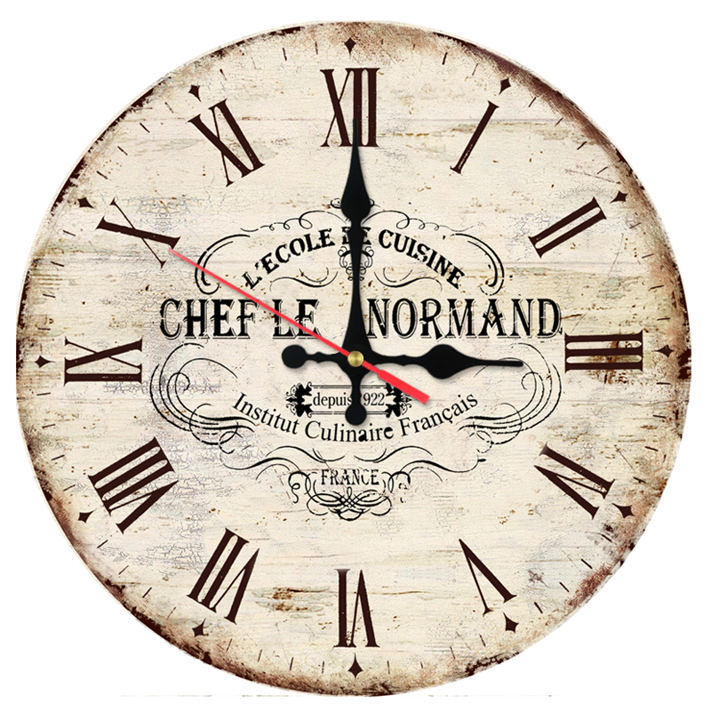 New Fashion Wall Clock Wooden Clocks Home Decor Quartz Watch Single Face Modern Circular Still Life Stickers For Home Decor