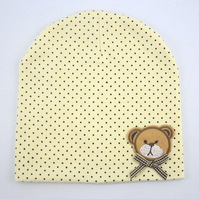 1 Pcs Cute Winter Autumn Newborn Crochet warm Cotton beanie Baby Hat Girl Boy Cap Children Bear Infant Kids Clothes 4