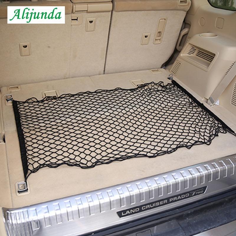 Уход за автомобилем 70x70 см органайзер для хранения багажа нейлоновая эластичная сетка с 4 пластиковыми крючками