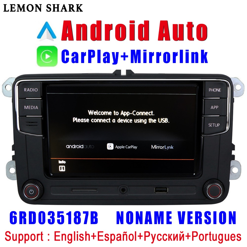 <font><b>RCD330</b></font> Plus RCD330G Carplay Android Auto <font><b>Noname</b></font> 6RD 035 187B Car Radio MIB For VW Golf 5 6 Jetta MK5 MK6 CC Tiguan Passat Polo image
