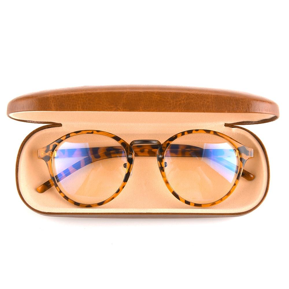Gudzws Anti Blue Light Rays Glasses Retro Round Relieve Eyes Fatigue Computer TV Screen Blocking Unisex