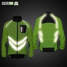 WOSAWE высокая видимость Велоспорт мужские ветровки водостойкий легкий вес Безопасность Велоспорт куртка плащ горный велосипед одежда