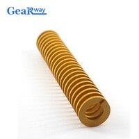 Gearway желтая Пружина сжатия TF30x65/30x70/30x95/30x100 мм легкая загрузка трубчатая секция прессформы штампа Пружина сжатия