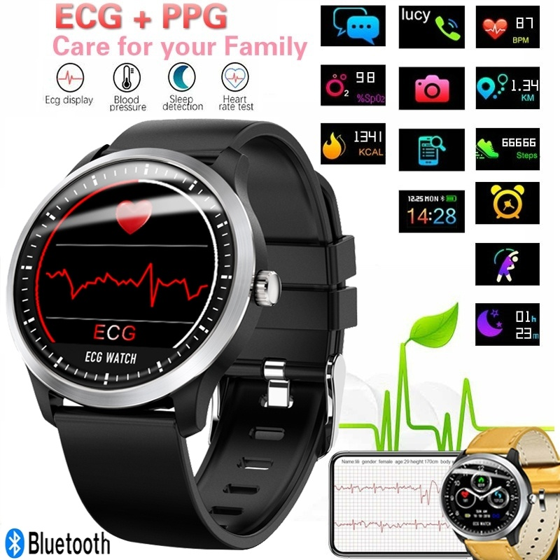 N58 ECG Smartwatch Men Display Heart Rate Sleep Monitor 3D UI Multi-sport Fitness Tracker Smart Bracelet Steel Smart Watch BandN58 ECG Smartwatch Men Display Heart Rate Sleep Monitor 3D UI Multi-sport Fitness Tracker Smart Bracelet Steel Smart Watch Band
