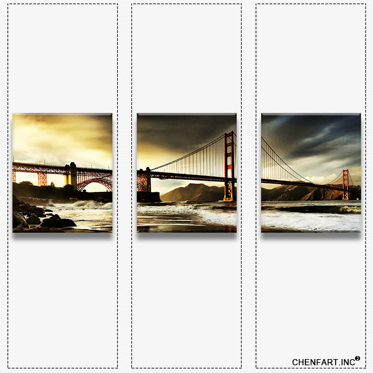 3 panels wall art set print on canvas wall painting golden. Black Bedroom Furniture Sets. Home Design Ideas