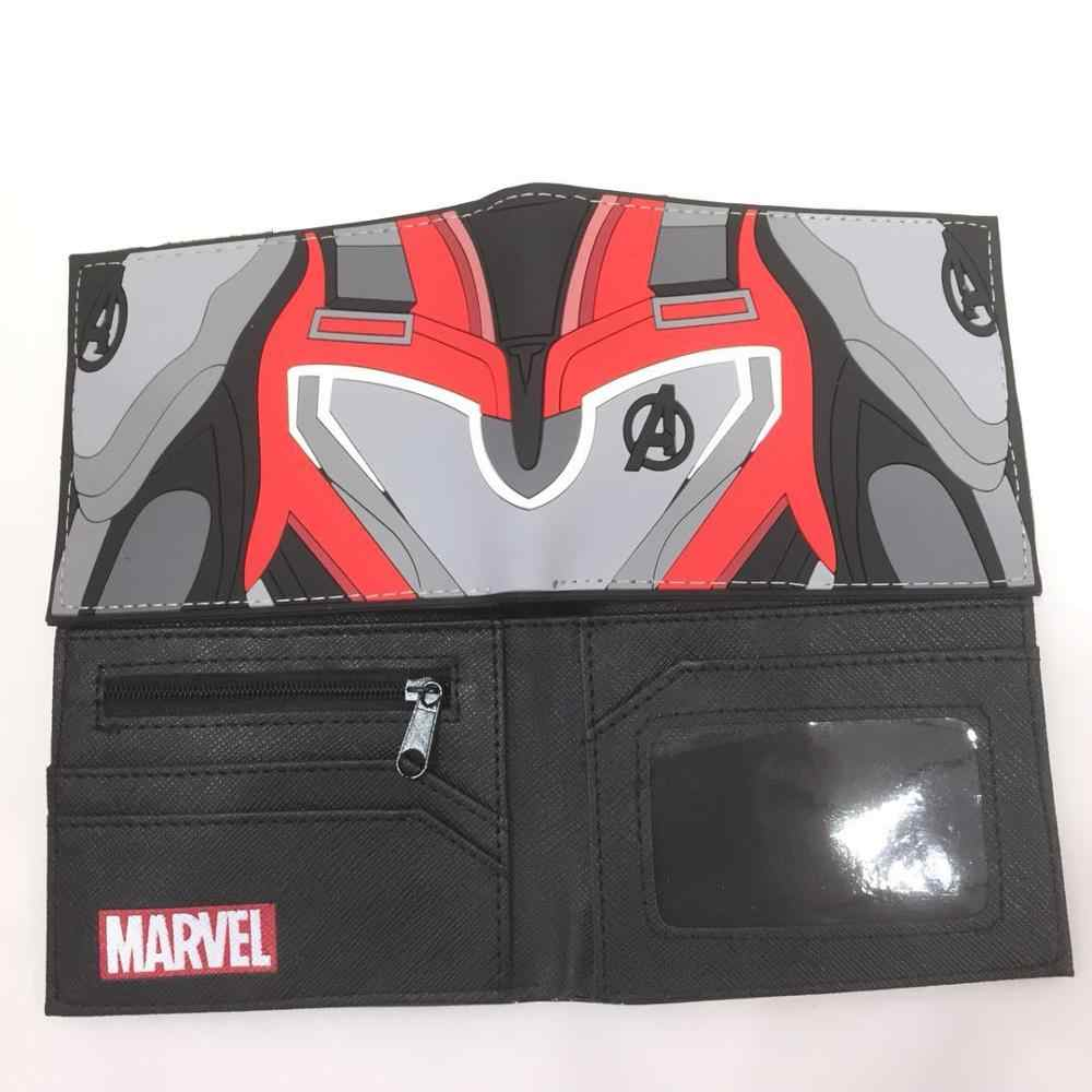 Marvel Super hero Logo wallet New Waterproof  Short Wallet boys girls Double fold Credit Card Purse Gifts