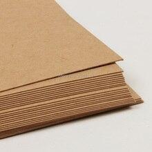 Оптом! Высокое качество 150x100 мм коричневая крафт-бумага бумажная доска картонная карта пустой 24 листа/лот