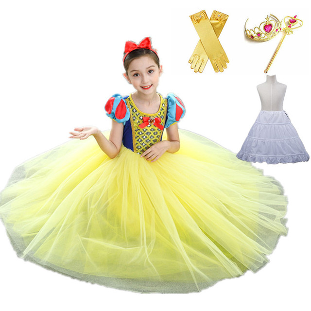 59d35504892 2018 New arrival Girl Snow White Princess Dress Kids Cosplay Costume  Halloween Christmas Clothes Pageant Costume-in Dresses from Mother & Kids  on ...