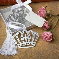 2015 Hot Sale Crown Flower Tassels Stainless Steel Bookmark Festival Christmas Wedding Gift  8CPM Office & School Supplies