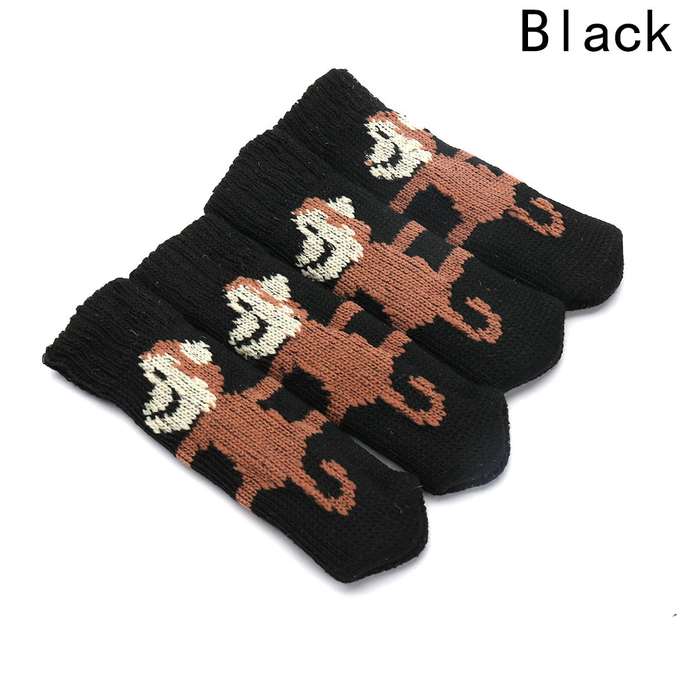 New 4 Pcs Anti-Slip Sleeve Sock Floor Protector Chair Table Leg Knitting Furniture Cover Pad Foot Sleeve Home Decoration Supply
