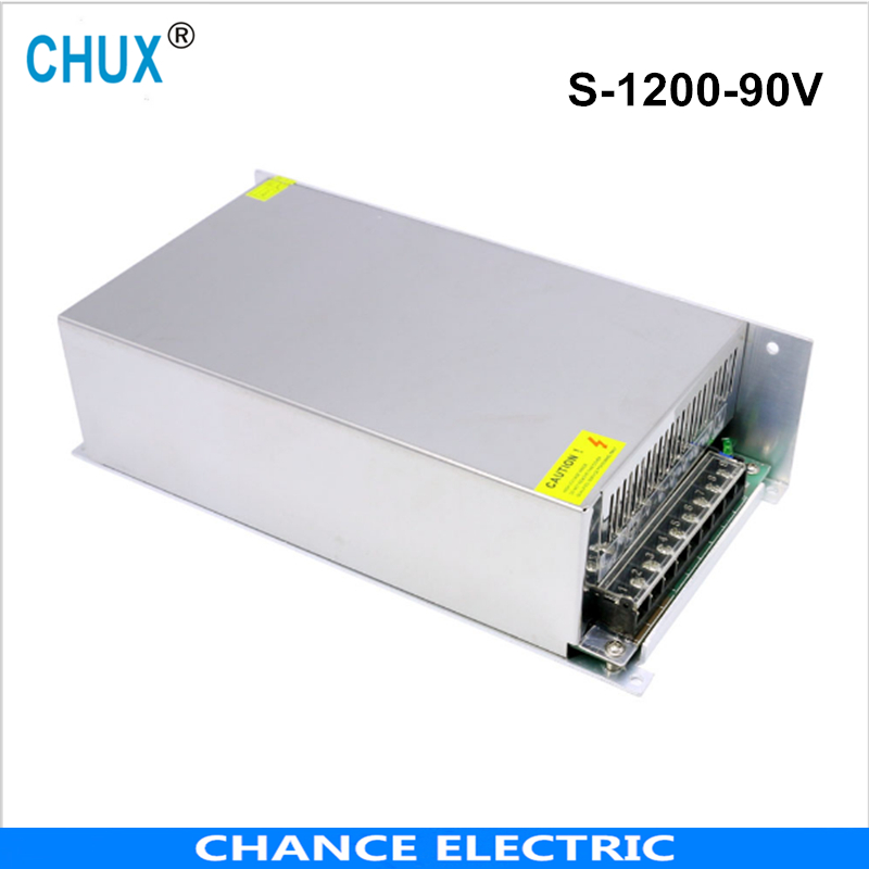 1200W 12A 90V switching power supply  220v 110v ac to 90V dc power supply for  cnc cctv led light free shipping the murder wall