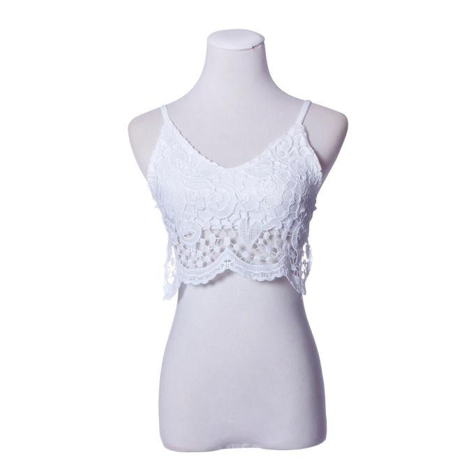 530964842ac30 2016 New Women Tops Tee Shirt Femme Crochet Tank Camisole Black Lace Vest  Sexy Bralette Bra Crop Top-in Camis from Women s Clothing on Aliexpress.com  ...