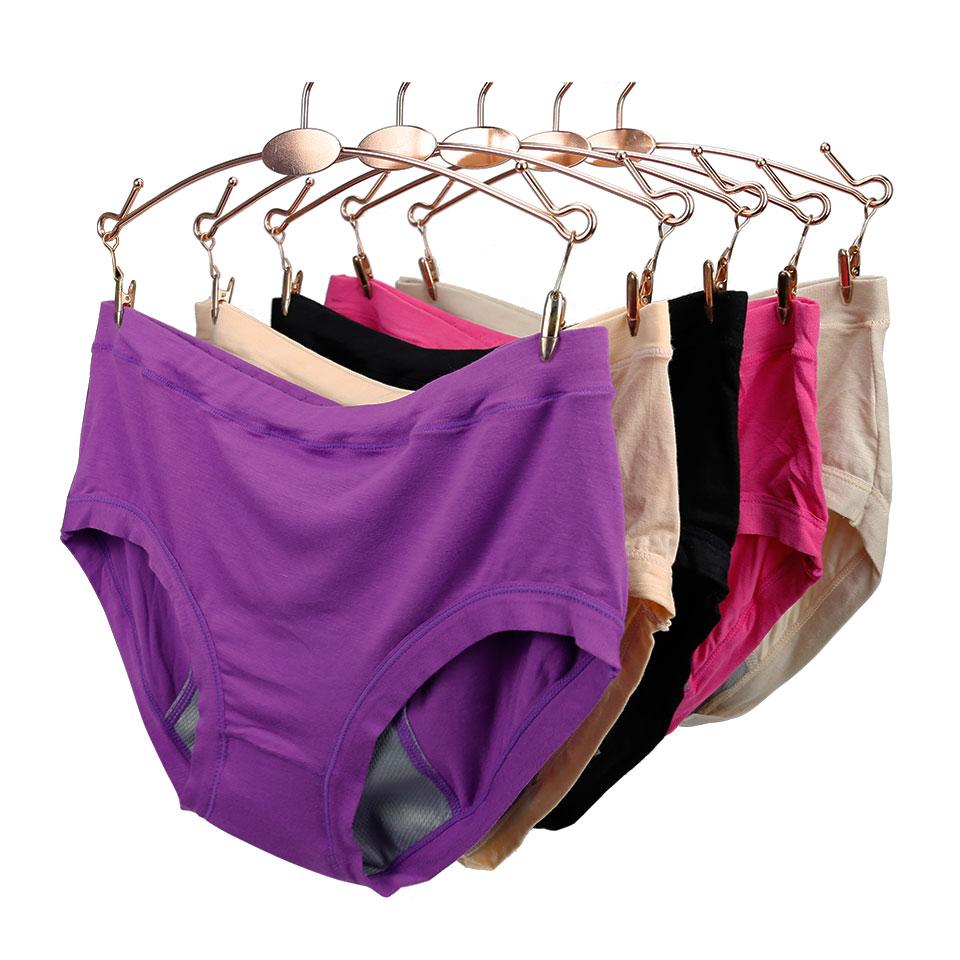 6da4438d9252 Women Menstrual Period Panty Bamboo Fiber Seamless Briefs Lady Healthy Physiological  Leakproof Female Sanitary Period Underwear
