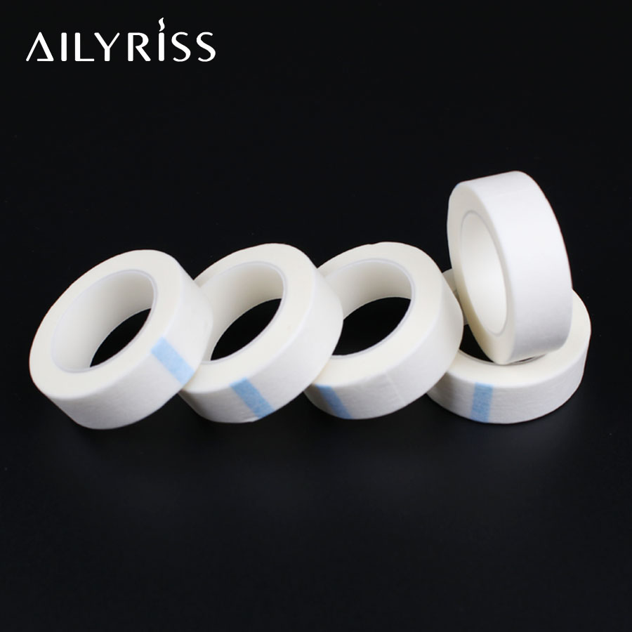 5 Rolls  Medical Adhesive Tape For Professional Eyelash Extension Non-woven Tape Under Eye Pad Eyelash Patch Makeup Tools
