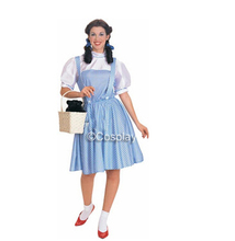 New Arrival Custom Made Knee Length Dorothy Cosplay Dress Costume The Wonderful Wizard of Oz