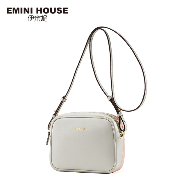 EMINI HOUSE Fashion Split Leather Women Crossbody Bag Double-Side Color Flap Bag Mini Shoulder Bags Women Messenger Bags
